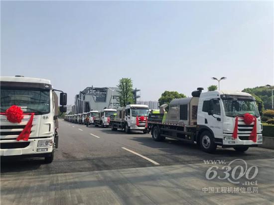 中联重科4.0系列国六车载泵整装待发
