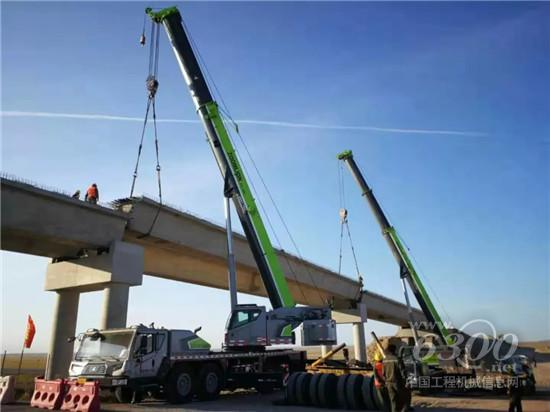 中联重科起重机助力绥满高速海满段公路梁板架设项目顺利进行