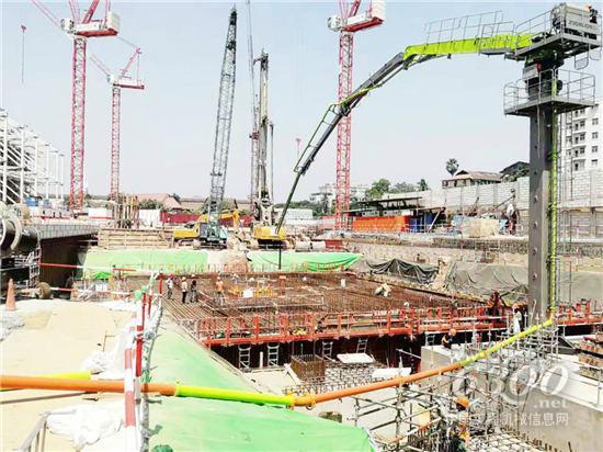 中联重科混凝土设备深度参与缅甸地标BYMA项目建设