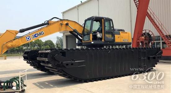 15S水陆两栖挖掘机装车调试-中国自主研发的水陆两栖挖掘机首次批