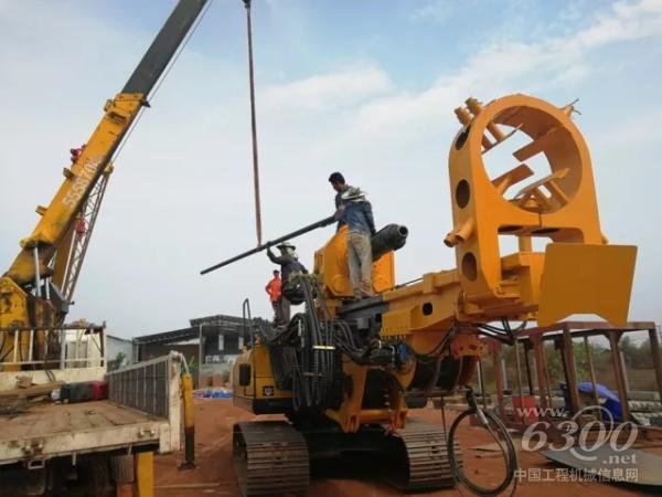KR125M钻机到达老挝工地