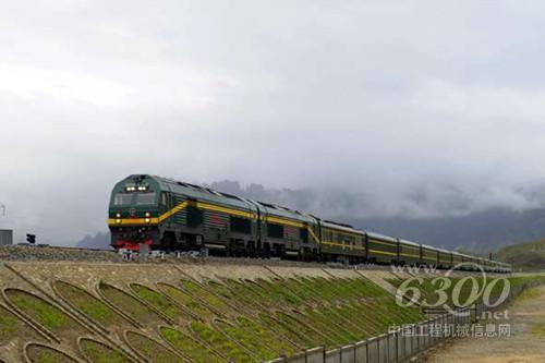 这是国产大功率机车(火车头)首次登上世界屋脊,青藏高原铁路从此用上