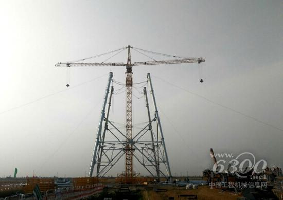 徐工塔机双平臂电力抱杆助力国家电网项目