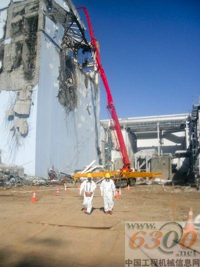 三一重工泵车支援福岛核电站抢险.