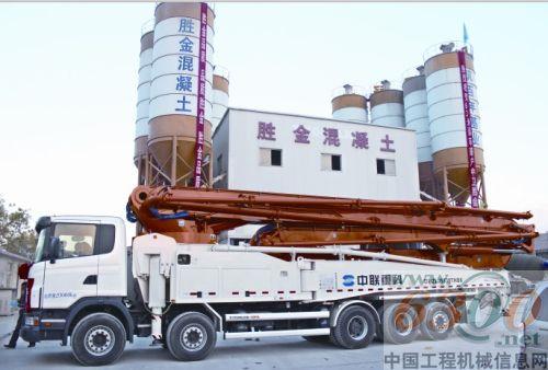 中联重科63米泵车刷新宁夏泵车臂架新高度